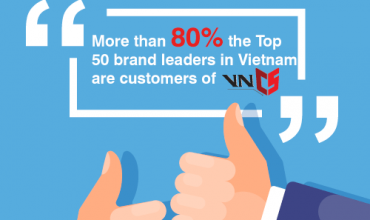 More than 80% the Top 50 brand leaders in Vietnam are customers of VNCS