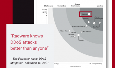Radware is leader in The Forrester Wave™: DDoS Mitigation Solutions, Q1 2021